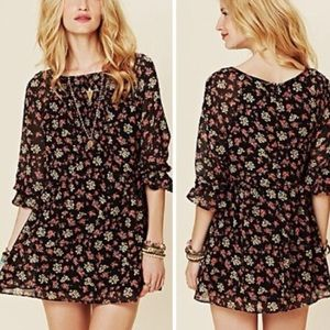 🎀 3 FOR $60 • Free People • Floral Tunic Dress